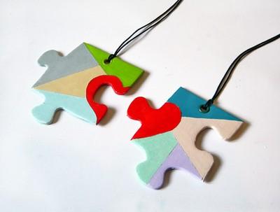 puzzle barátság nyaklánc